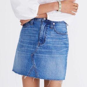 NWT Madewell denim frisco mini skirt